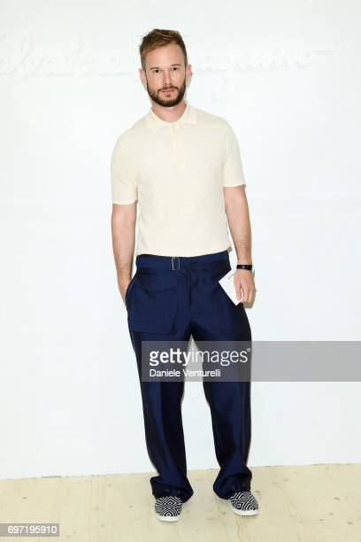 Paolo Stella attends the Salvatore Ferragamo show during Milan Men's Fashion Week Spring/Summer 2018 on June 18 2017 in Milan Italy