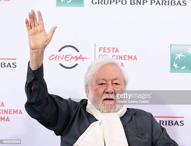 Paolo Villaggio attends a photocall for 'Fantozzi' during the 10th Rome Film Fest on October 23 2015 in Rome Italy