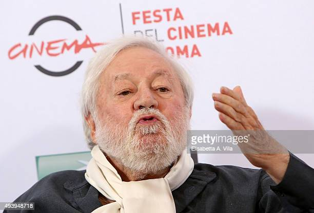 Paolo Villaggio attends a photocall for 'Fantozzi' during the 10th Rome Film Fest at Auditorium Parco Della Musica on October 23 2015 in Rome Italy