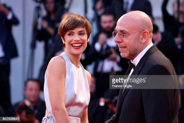 Paolo Virzi and Micaela Ramazzotti walk the red carpet ahead of the 'The Leisure Seeker ' screening during the 74th Venice Film Festival at Sala...