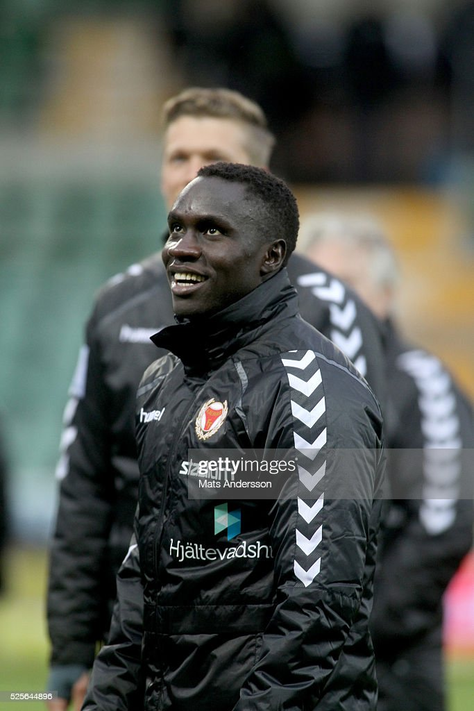 Papa Alioune Diouf of Kalmar FF during the Allsvenskan match between GIF Sundsvall and Kalmar FF at Norrporten Arena on April 28, 2016 in Sundsvall, Sweden.