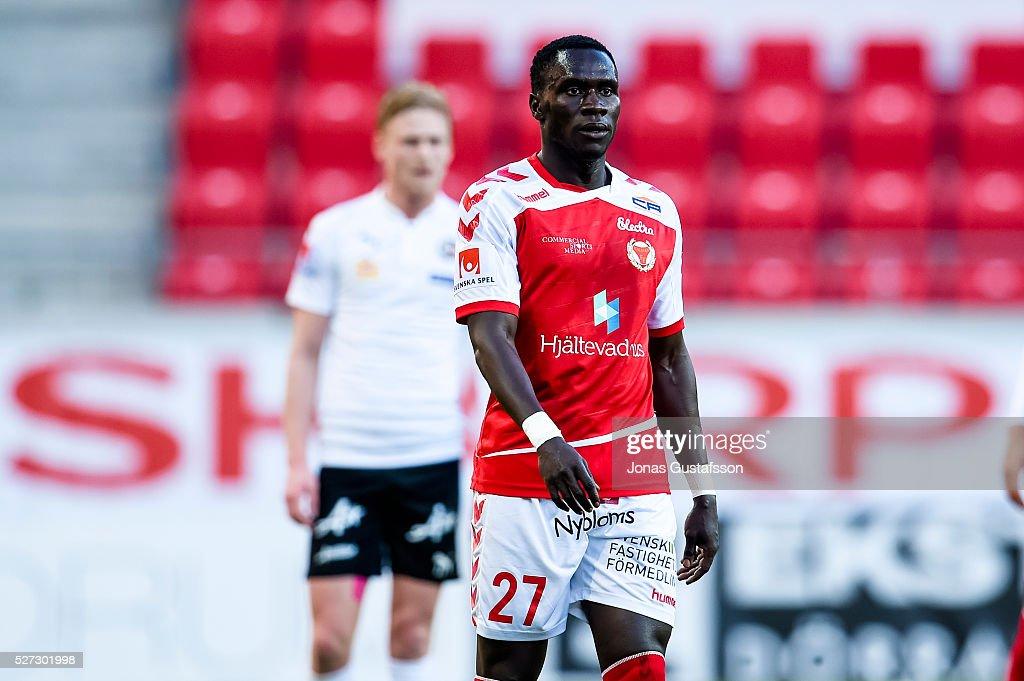 Papa Alioune Diouf of Kalmar FF during the Allsvenskan match between Kalmar FF and Orebro SK at Guldfageln Arena on May 2, 2016 in Kalmar, Sweden.