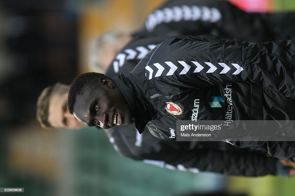 Papa Alioune Diouf of Kalmar FF the Allsvenskan match between GIF Sundsvall and Kalmar FF at Norrporten Arena on April 28, 2016 in Sundsvall, Sweden.