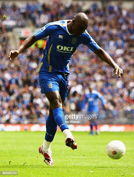 Papa Bouba Diop of Portsmouth in action during the FA Cup sponsored by EON SemiFinal match between West Bromwich Albion and Portsmouth at Wembley...