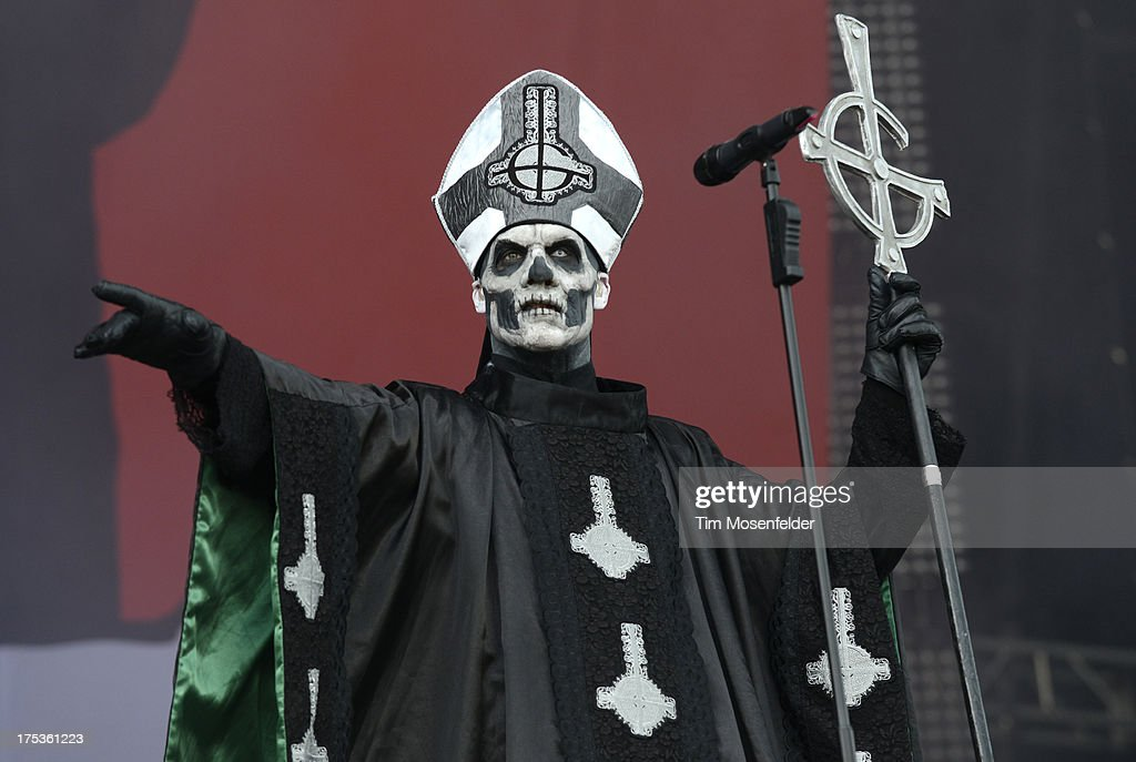 Papa Emeritus II of Ghost B.C. performs as part of Lollapalooza 2013 at Grant Park on August 2, 2013 in Chicago, Illinois.