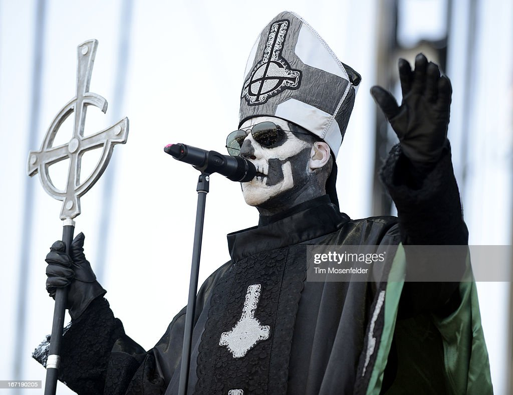 Papa Emeritus II of Ghost B.C. performs as part of the 2013 Coachella Valley Music & Arts Festival at the Empire Polo Field on April 21, 2013 in Indio, California.