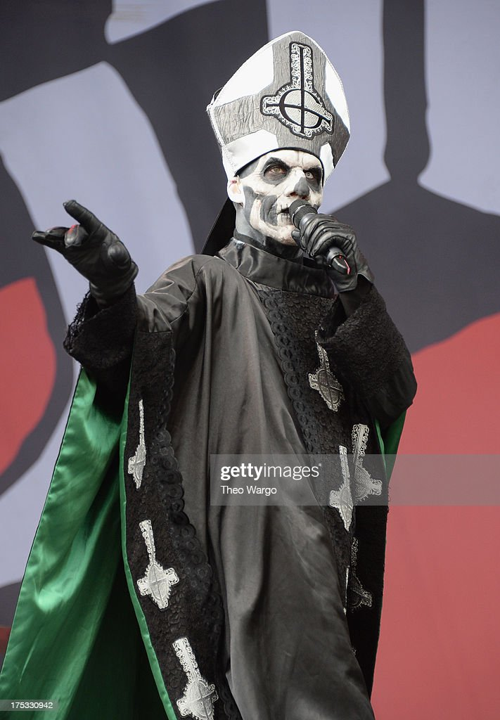 Papa Emeritus II of Ghost BC performs during Lollapalooza 2013 at Grant Park on August 2 2013 in Chicago Illinois