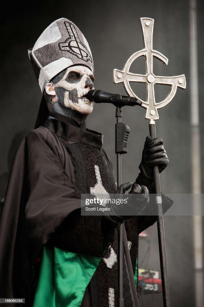 Papa Emeritus II of Ghost performs during 2013 Rock On The Range at Columbus Crew Stadium on May 19, 2013 in Columbus, Ohio.
