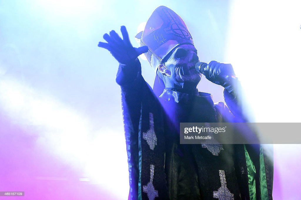 Papa Emeritus II of Ghost performs live for fans at the 2014 Big Day Out Festival on January 26, 2014 in Sydney, Australia.