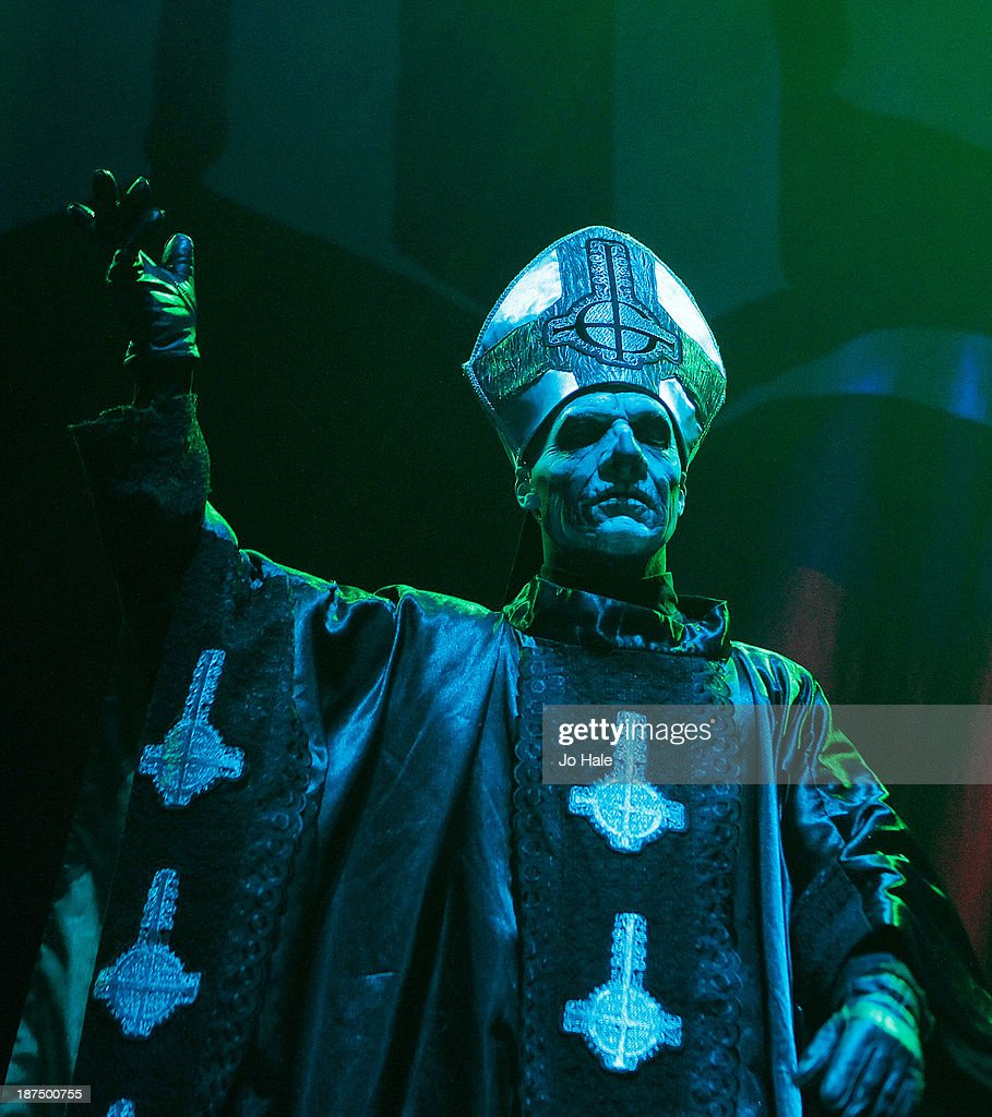 Papa Emeritus II of Ghost performs on stage at Alexandra Palace on November 9 2013 in London United Kingdom