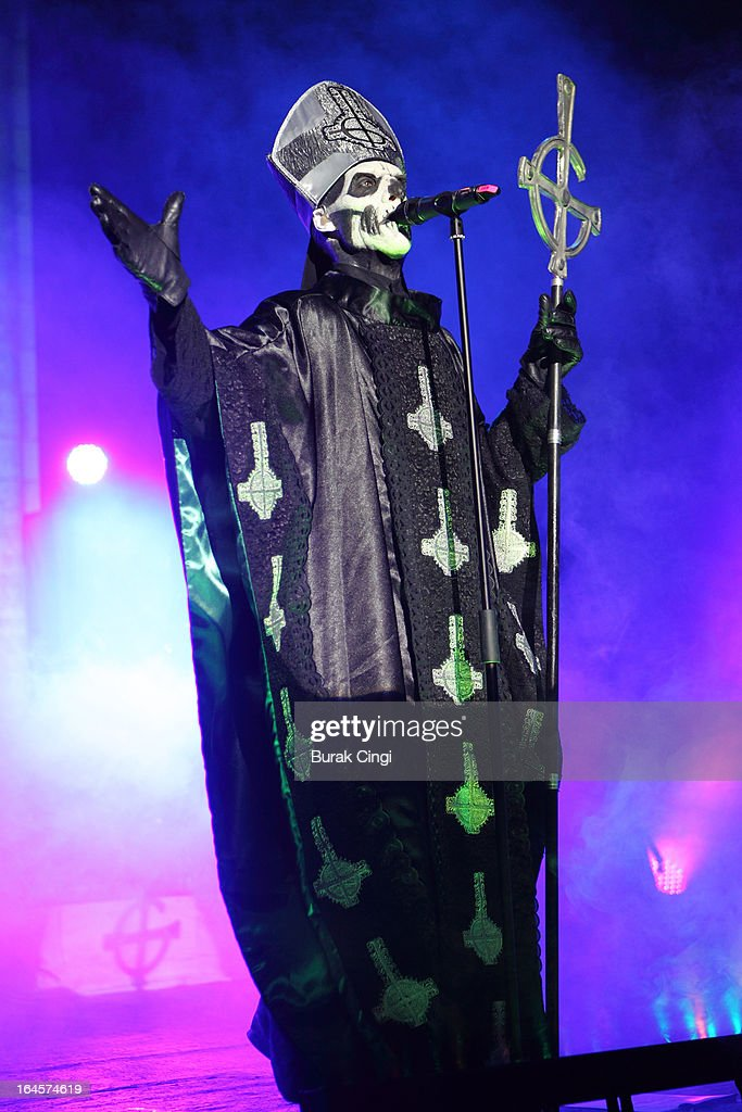 Papa Emeritus II of Ghost performs on stage at Brixton Academy on March 24, 2013 in London, England.