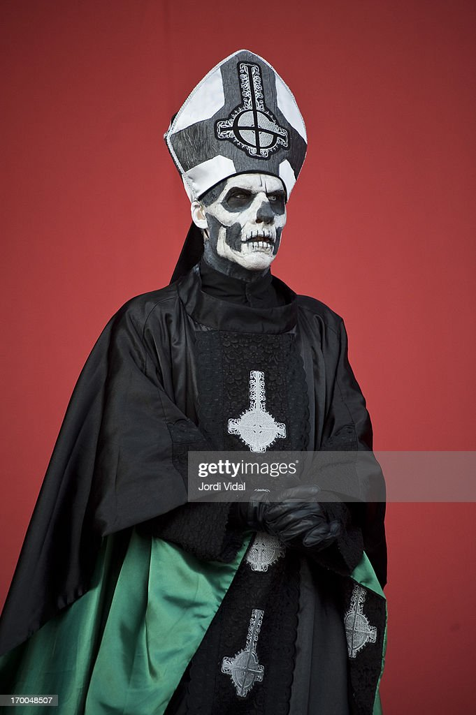 Papa Emeritus II of Ghost performs on stage at Sonisphere Festival 2013 at Parc Del Forum on June 1, 2013 in Barcelona, Spain.