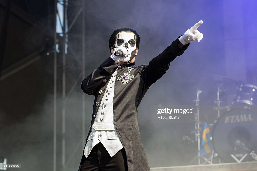 Papa Emeritus III of Ghost performs at Aftershock Festival at Discovery Park on October 23, 2016 in Sacramento, California.