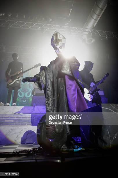 Papa Emeritus III of Ghost performs at Huxleys Neue Welt on April 25 2017 in Berlin Germany