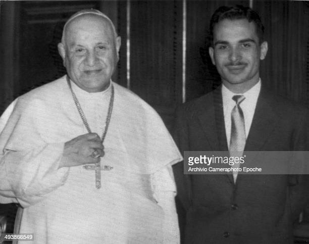 Papa Giovanni with King Hussein of Jordan 1959