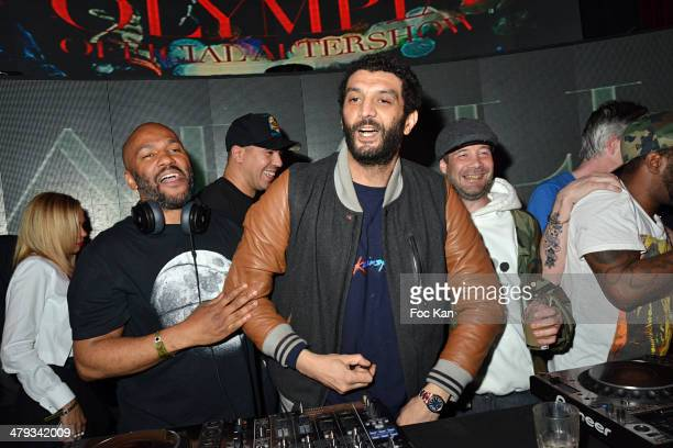 Papa Lu and Ramzy Bedia attend the Kavinsky Olympia Concert After DJ Set Party at the VIP Room Theater on March 17 2014 in Paris France