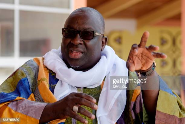 Papa Massata Diack son of former president of the International Association of Athletics Federations Lamine Diack speaks during an interview with AFP...