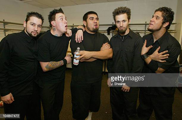 Papa Roach backstage at Not So Silent Night during Live 105's 'Not So Silent Night' Concert 2002 Backstage at HP Pavilion in San Jose California...