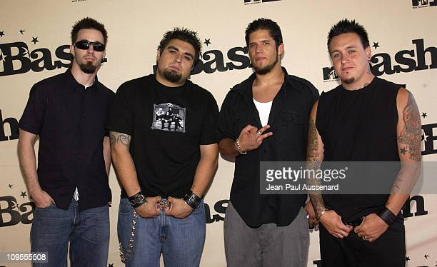 Papa Roach during MTV Bash Arrivals in Hollywood United States