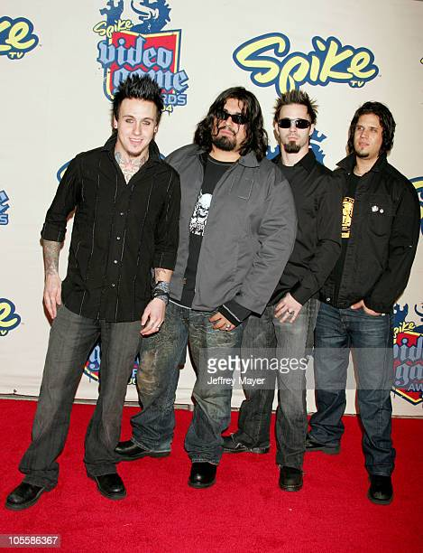 Papa Roach during Spike TV Video Game Awards 2004 Arrivals at Barker Hangar in Santa Monica California United States
