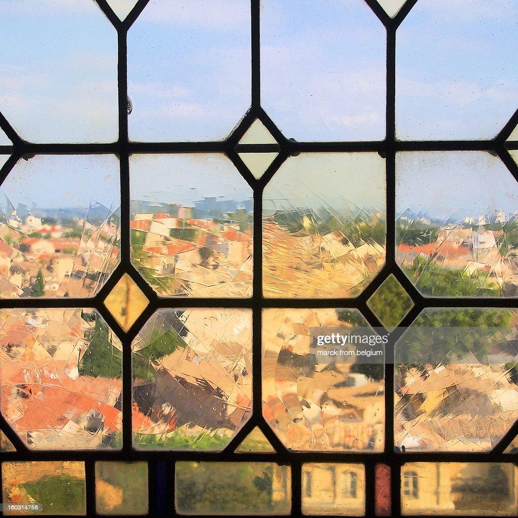 A Papal View on Avignon : Stock Photo