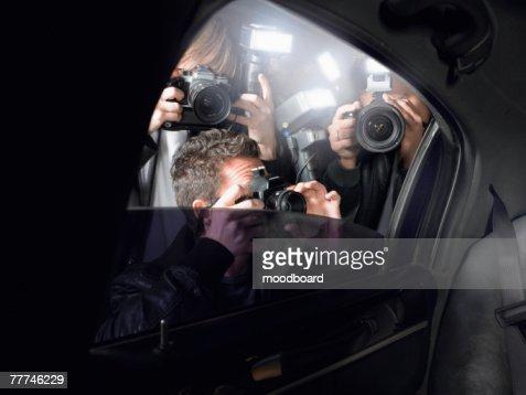 Paparazzi Shooting Inside a Limousine
