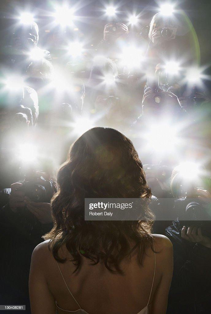 Paparazzi Fotos von Stars : Stock-Foto