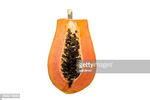 Papaya metà : Foto stock