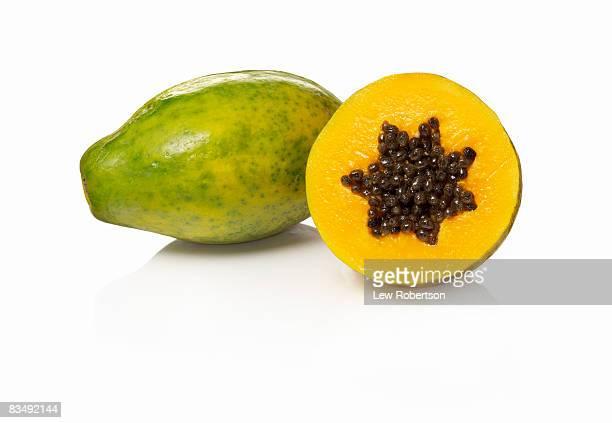 Papaya on white