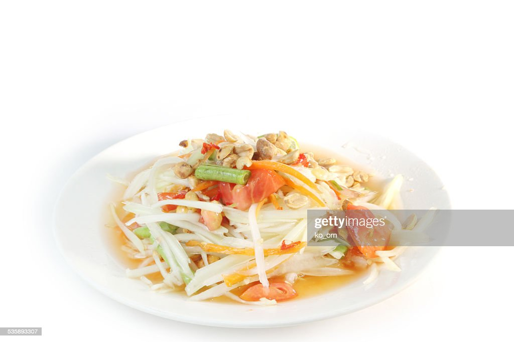 Papaya salad Thai food : Stock Photo