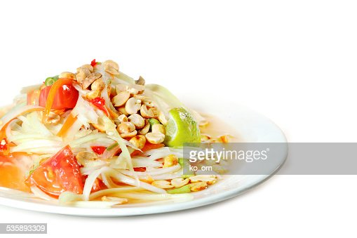 Papaya salad Thai food : Stock Photo