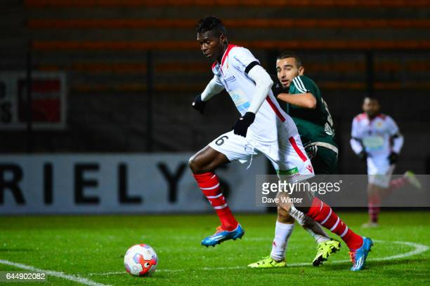 Pape Abou CISSE / Naim SLITI Red Star / Ajaccio 15eme journee de Ligue 2 Photo Dave Winter / Icon Sport