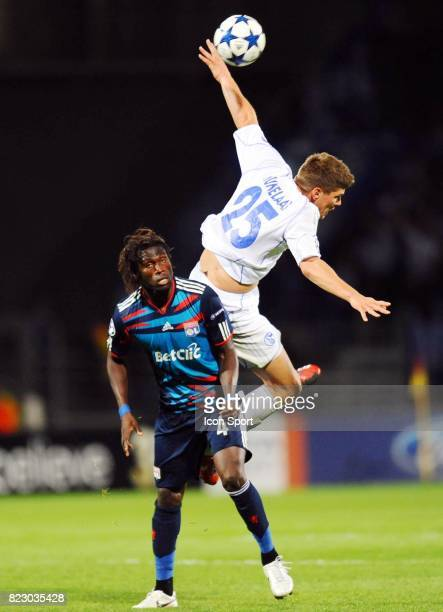 Pape DIAKHATE / Klaas Jan HUNTELAAR Lyon / Schalke 04 1er journee de Ligue des Champions