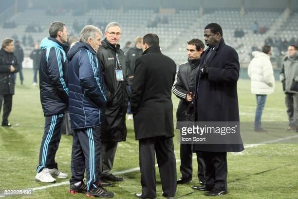 Pape DIOUF / Said ENNJIMI / Eric GERETS Auxerre / Marseille 20 eme journee de Ligue 1