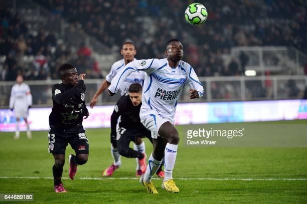 Pape PAYE / Paul Georges NTEP Auxerre / Dijon 30eme journee de Ligue2 Photo Dave Winter / Icon Sport