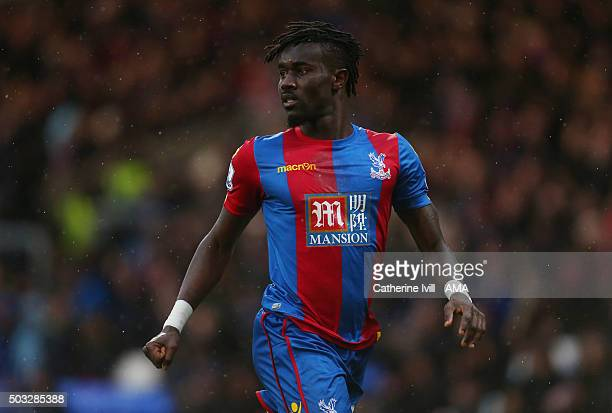 Pape Souare of Crystal Palace during the Barclays Premier League match between Crystal Palace and Chelsea at Selhurst Park on January 3 2016 in...
