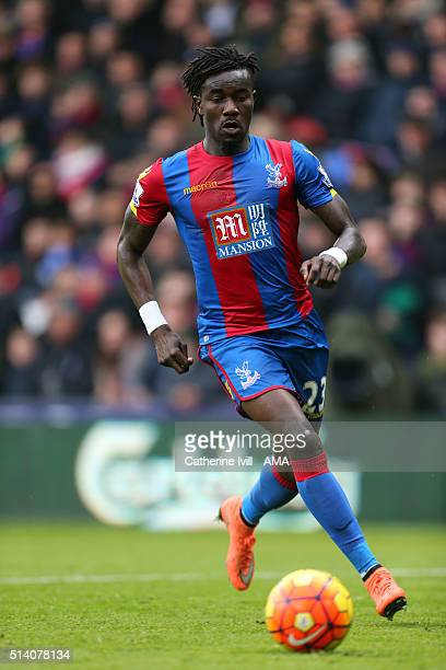 Pape Souare of Crystal Palace during the Barclays Premier League match between Crystal Palace and Liverpool at Selhurst Park on March 6 2016 in...