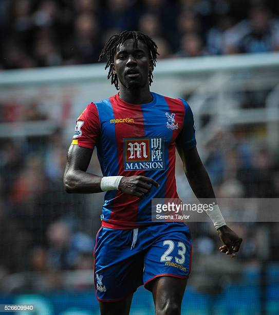 Pape Souare of Crystal Palace during the Barclays Premier League match between Newcastle United and Crystal Palace at StJames' Park on April 30 in...