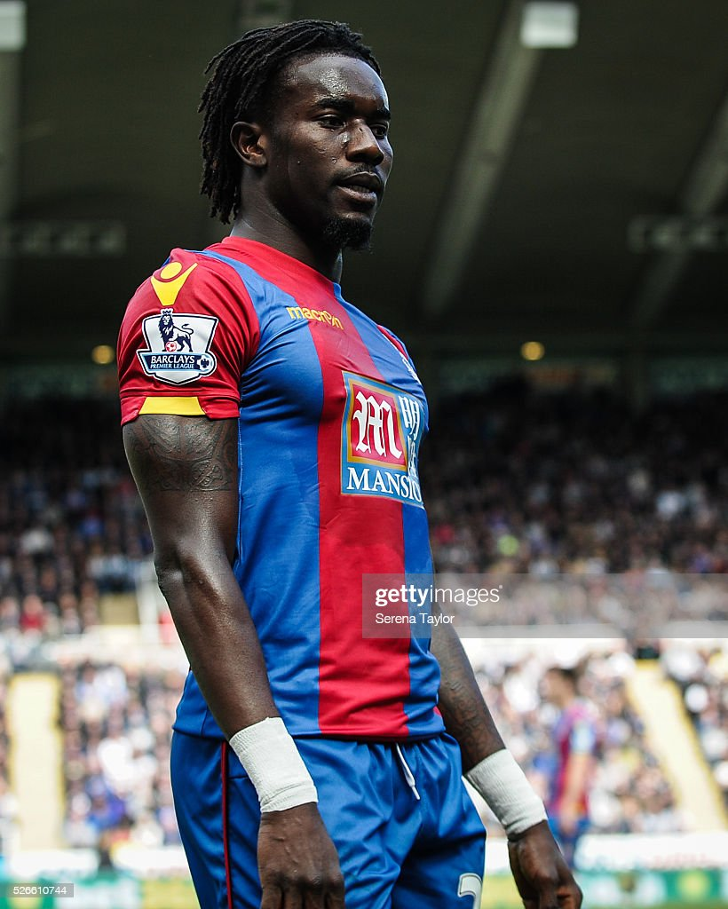 Pape Souare of Crystal Palace during the Barclays Premier League match between Newcastle United and Crystal Palace at St.James' Park on April 30, 2016, in Newcastle upon Tyne, England.