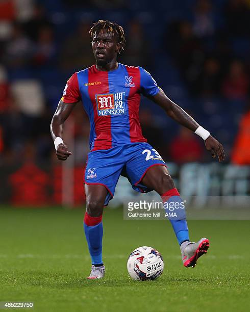 Pape Souare of Crystal Palace during the Capital One Cup match between Crystal Palace and Shrewsbury Town at Selhurst Park on August 25 2015 in...