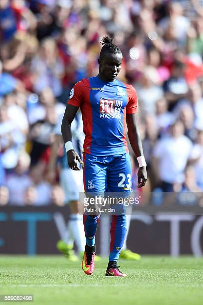 Pape Souare of Crystal Palace during the Premier League match between Crystal Palace FC and West Bromwich Albion FC at Selhurst Park on August 13...