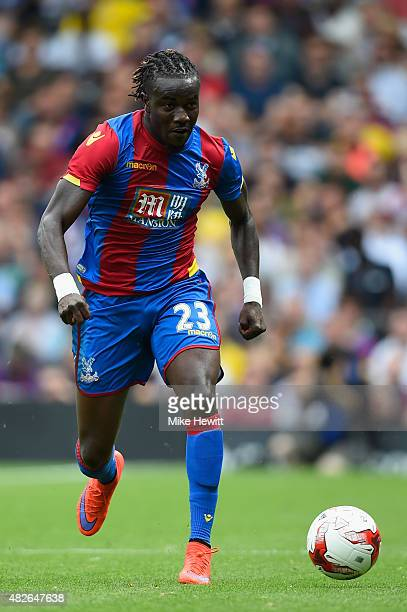 Pape Souare of Crystal Palace in action during a Pre Season Friendly between Fulham and Crystal Palace at Craven Cottage on August 1 2015 in London...