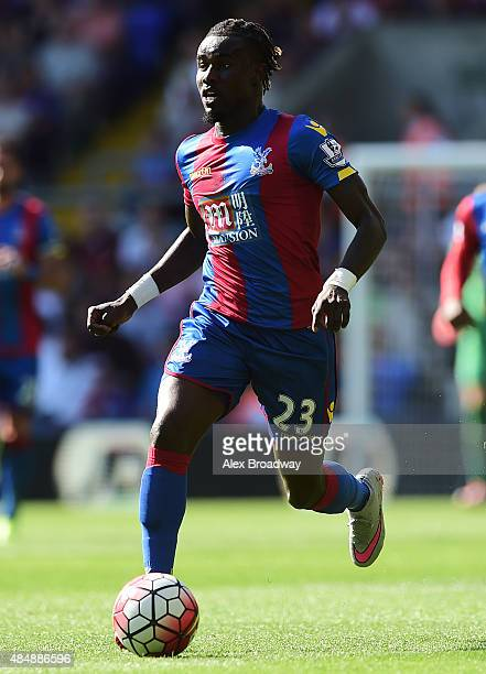 Pape Souare of Crystal Palace in action during the Barclays Premier League match between Crystal Palace and Aston Villa at Selhurst Park on August 22...