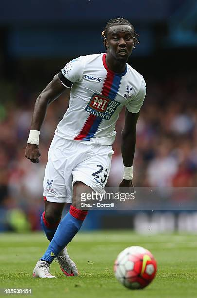 Pape Souare of Crystal Palace in action during the Barclays Premier League match between Chelsea and Crystal Palace on August 29 2015 in London...