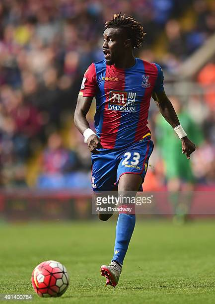 Pape Souare of Crystal Palace in action during the Barclays Premier League match between Crystal Palace and West Bromwich Albion at Selhurst Park on...
