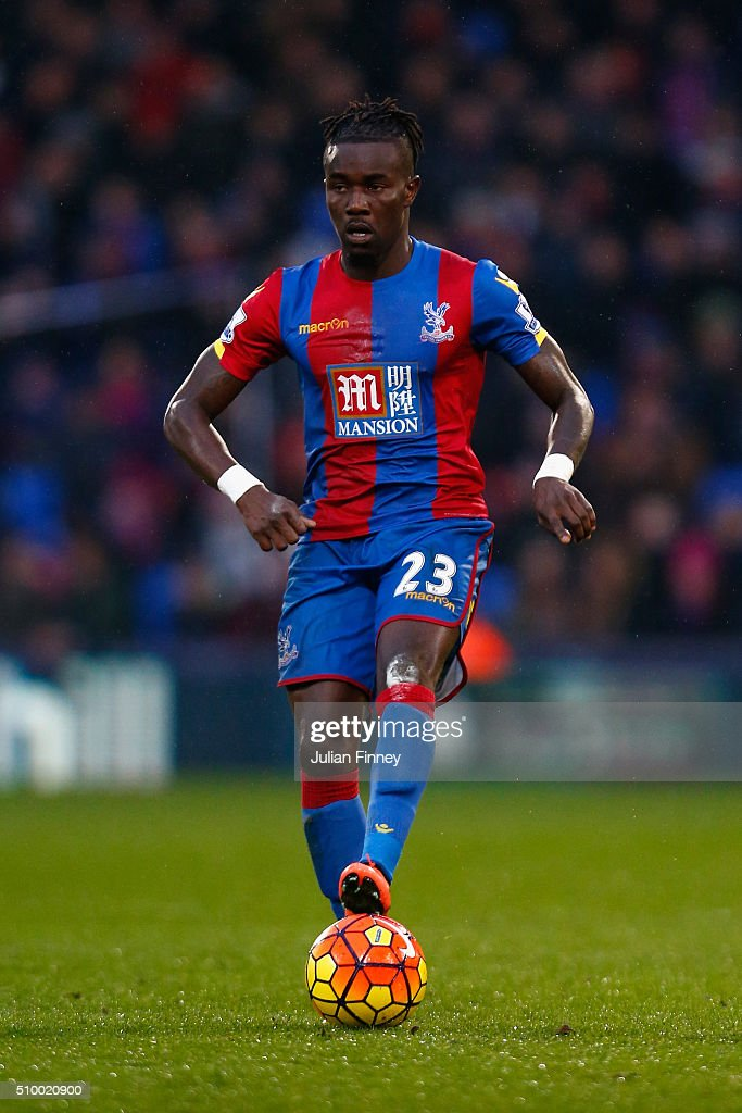 Pape Souare of Crystal Palace in action during the Barclays Premier League match between Crystal Palace and Watford at Selhurst Park on February 13, 2016 in London, England.