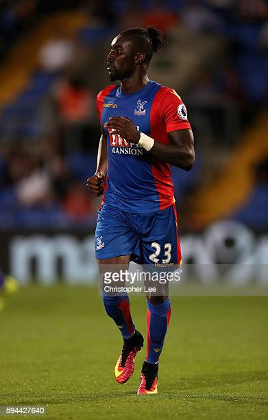 Pape Souare of Crystal Palace in action during the EFL Cup Second Round match between Crystal Palace and Blackpool at Selhurst Park on August 23 2016...
