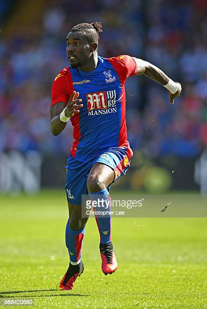 Pape Souare of Crystal Palace in action during the Pre Season Friendly match between Crystal Palace and Valencia at Selhurst Park on August 6 2016 in...