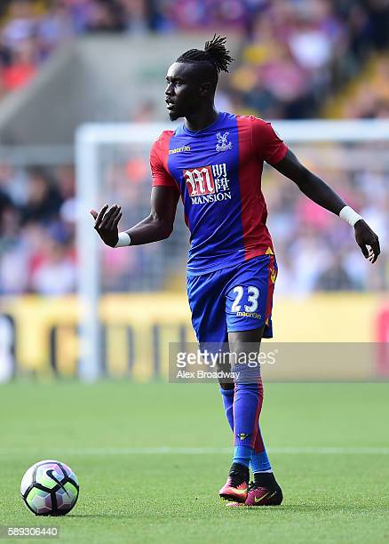 Pape Souare of Crystal Palace in action during the Premier League match between Crystal Palace and West Bromwich Albion at Selhurst Park on August 13...