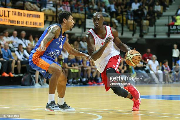 Pape Sy of Strasbourg and Steven Gray of Gravelines during the Final match between Strasbourg and Gravelines Dunkerque at Tournament ProStars at...